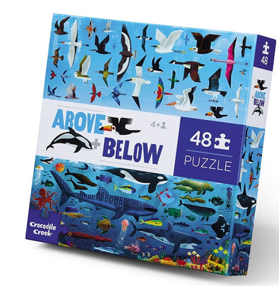 Above & Below - Sea and Sky Puzzle (48 pieces) by Crocodile Creek