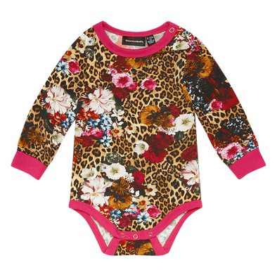 Leopard Floral Bodysuit by Rock Your Kid