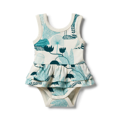 Wonderful Organic Ruffle Bodysuit by Wilson & Frenchy