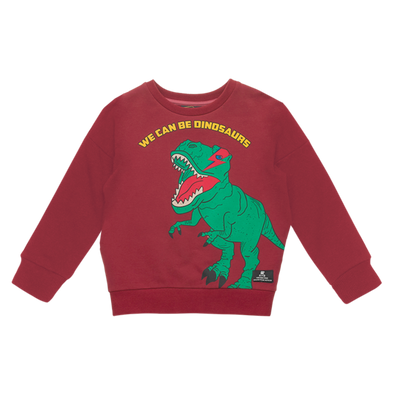 WE CAN BE DINOSAURS - SWEATSHIRT, RED