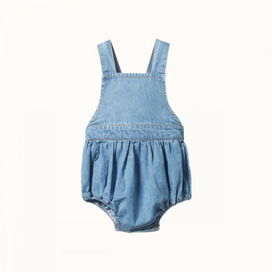 Georgie Romper Chambray by Nature Baby - Sky