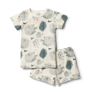 Little Ocean Organic Short Sleeve Pyjamas by Wilson & Frenchy