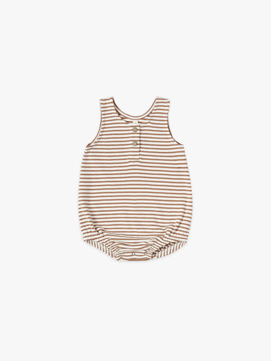Sleeveless Bubble by Quincy Mae - Rust Stripe