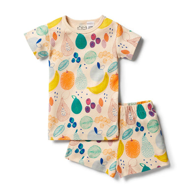 Fuit Loop Organic Short Sleeve Pyjamas by Wilson & Frenchy