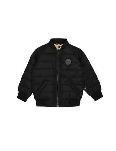 Animal Spot Reversible Bomber by Hux Baby