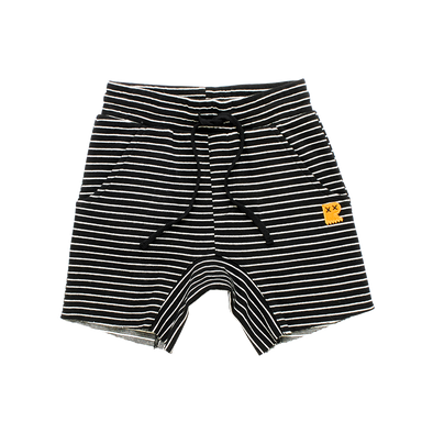 Black/Cream Stripe Shorts by Rock Your Kid