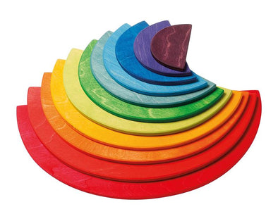 Rainbow Semi Circles (11 pieces) by Grimm's