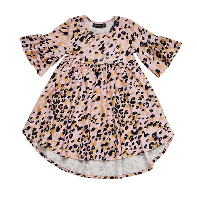 Pink Leopard Boho Dress by Rock Your Kid