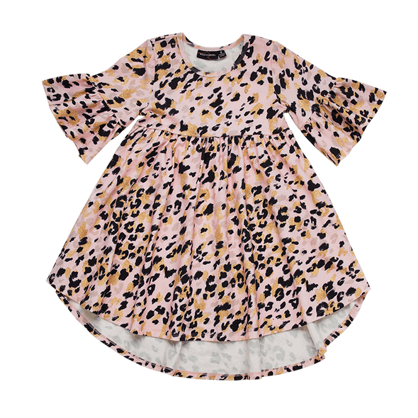 Pink Leopard Boho Dress by Rock Your Baby