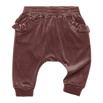 VELVET STRIPE - BABY TRACKPANTS, MUSK BLACK