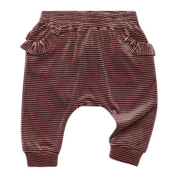 VELVET STRIPE - BABY TRACKPANTS by Rock Your Baby