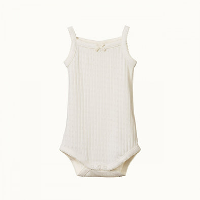 Camisole Bodysuit Pointelle by Nature Baby - Natural