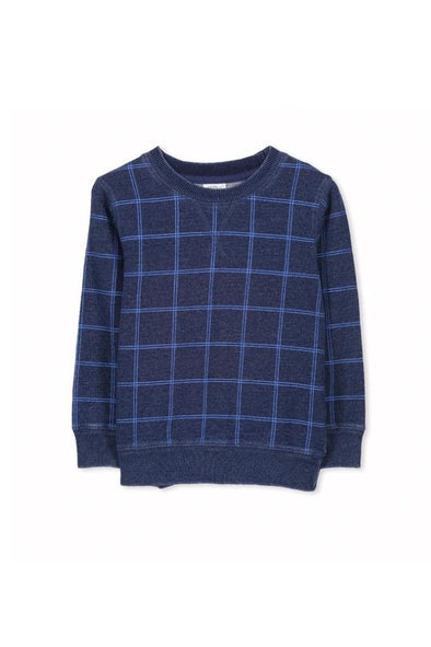 Grid Fleece Crew Sweat by Milky