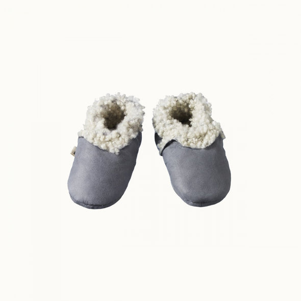 Lambskin Booties by Nature Baby - Grey