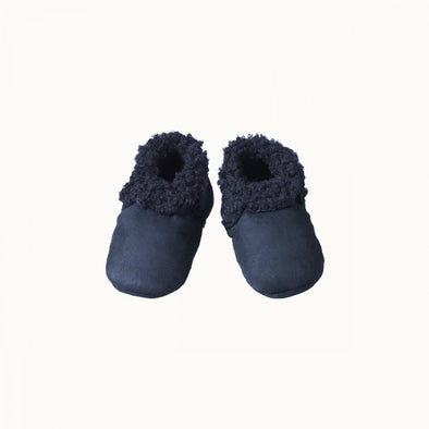Lambskin Booties by Nature Baby - Navy