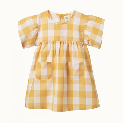 Clementine Dress by Nature Baby - Honey Check
