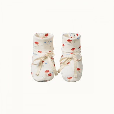 Cotton Booties by Nature Baby - Mushroom Valley