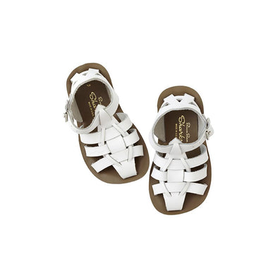 Salt Water Sandals - Shark - White