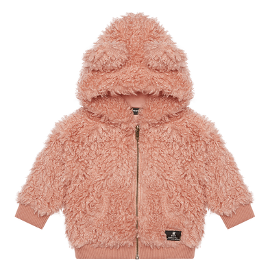 Pink Sherpa Baby Bear Hoodie by Rock Your Kid