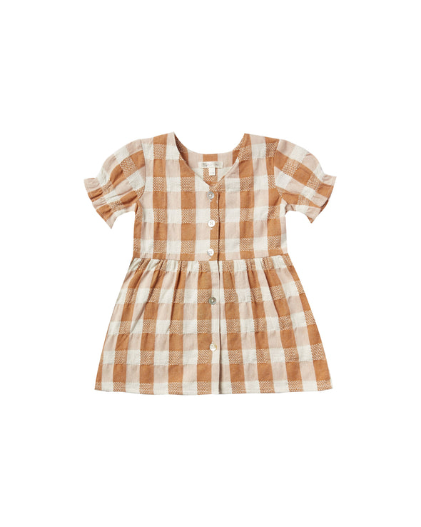 Cinnamon Check Jeanette Dress by Rylee & Cru