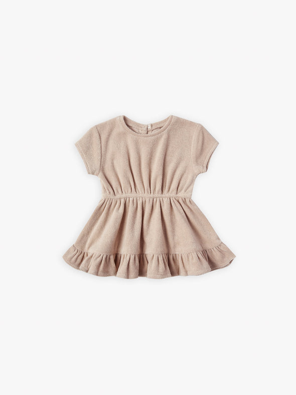 Short Sleeves Terry Dress by Quincy Mae - Petal