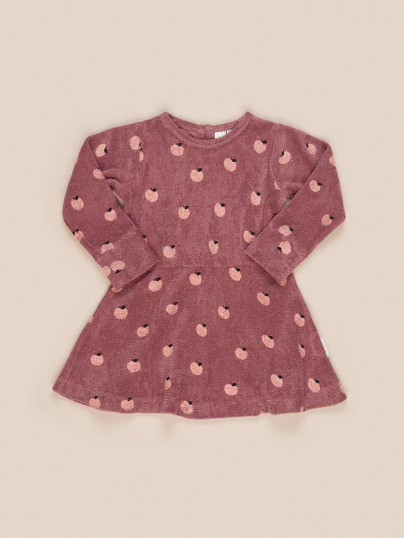 Apple Terry Dress by Hux Baby