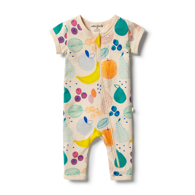 Fruit Loop Organic Zipsuit by Wilson & Frenchy