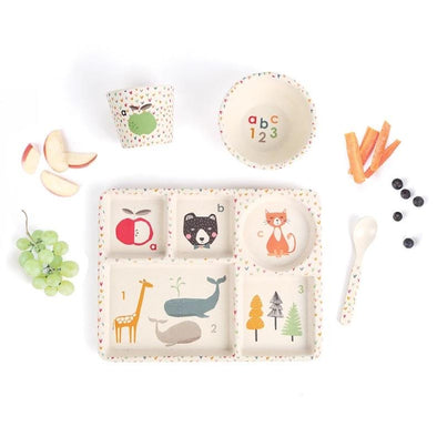 ABC Bamboo Dinner Set by Love Mae