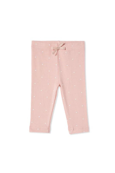 Misty Rose Rib Pants by Milky