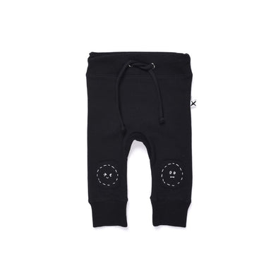 Deluxe Furry Patch Trackies by Minti - Black