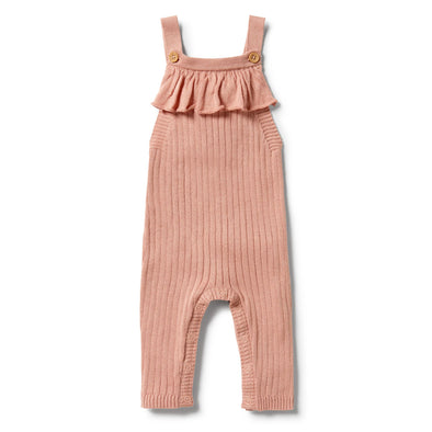 Knitted Rib Ruffle Overall - Dusk by Wilson & Frenchy