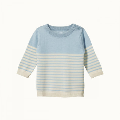 Light Cotton Knit Jumper by Nature Baby - Pond Sailor Stripe