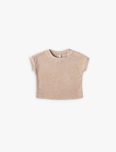 Gemma Short Sleeve Tee by Quincy Mae - Petal