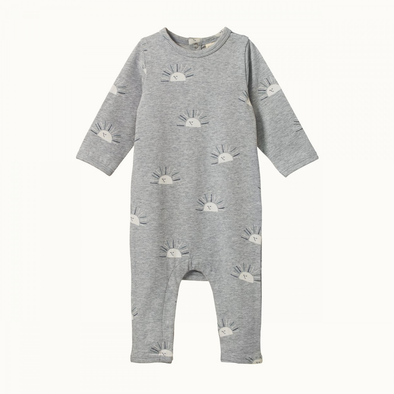 Long Sleeve Quincy Romper by Nature Baby - Sunrise Grey Marl