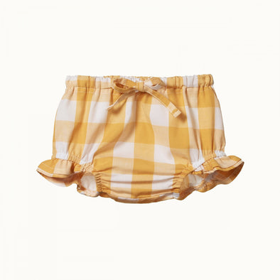 Gingham Petal Bloomer by Nature Baby - Honey Check
