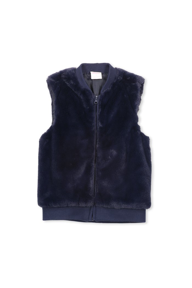 Knit and Fur Vest by Milky