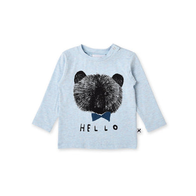 Sketchy Bear Baby Tee by Minti