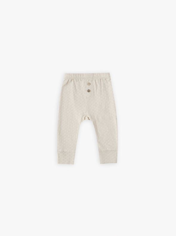 Pointelle Pant by Quincy Mae - Natural