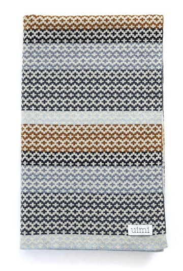 Uimi Isla Blanket - Duck Egg - Merino Wool