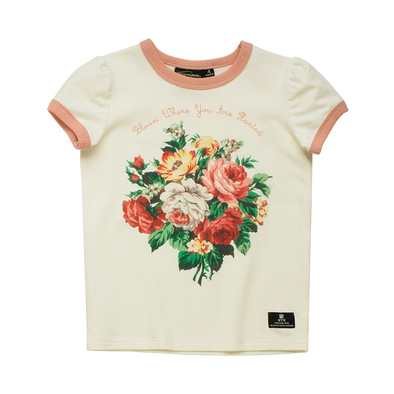 French Bloom Short Sleeve Ringer T-Shirt by Rock Your Kid