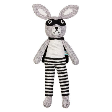 Large Crochet Bandit Bunny by Miann & Co