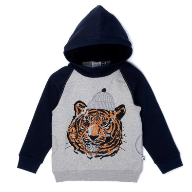 Toasty Tiger Furry Hood by Minti
