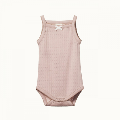 Camisole Bodysuit Pointelle by Nature Baby - Rose Bud