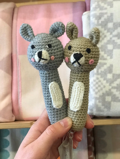 Bunny Crochet Hand Rattle by Miann & Co