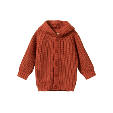 Oak Hoodie By Nature Baby - Rust