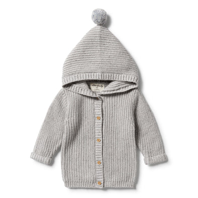 Knitted Jacket - Glacier Grey Fleck by Wilson & Frenchy