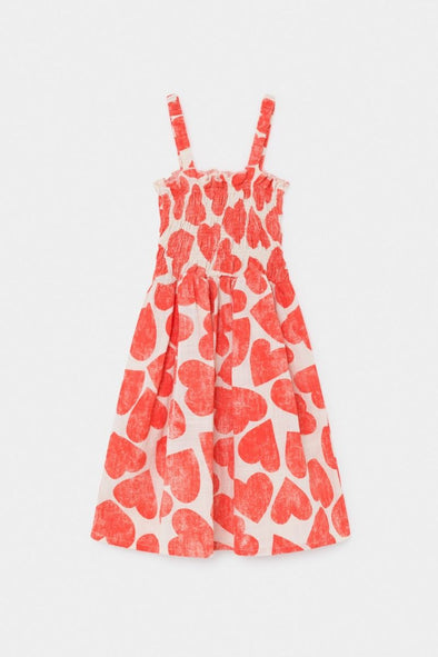 All Over Hearts Smoked Dress by Bobo Choses