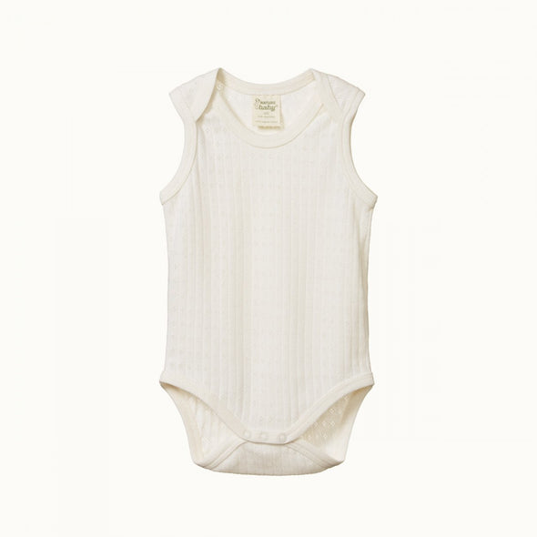 Pointelle Singlet Bodysuit by Nature Baby - Natural