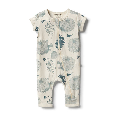 Little Ocean Organic Zipsuit by Wilson & Frenchy