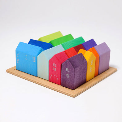 Building Set Small Wooden Houses by Grimm's